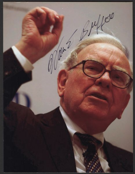 Warren Buffett Signed Photograph