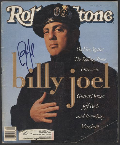 Billy Joel Signed Rolling Stone Magazine