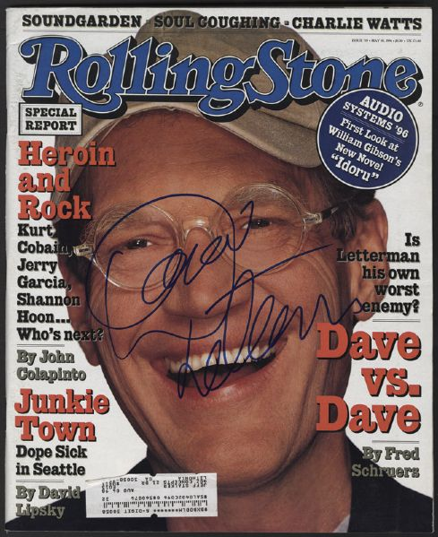 David Letterman Signed Rolling Stone Magazine