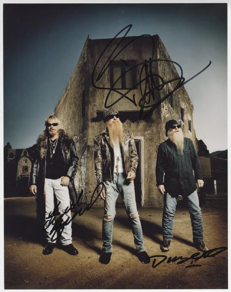 ZZ Top Signed Photograph