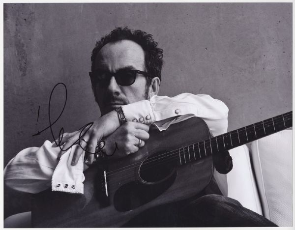 Elvis Costello Signed Photograph