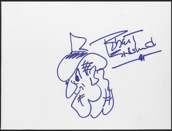 Robert Englund Hand Drawn & Signed Freddy Kreuger Drawing