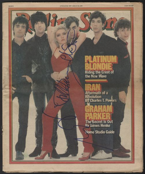 Blondie Signed Rolling Stone Magazine