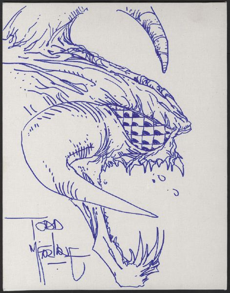 Todd McFarlane Hand Drawn and Signed Sketch