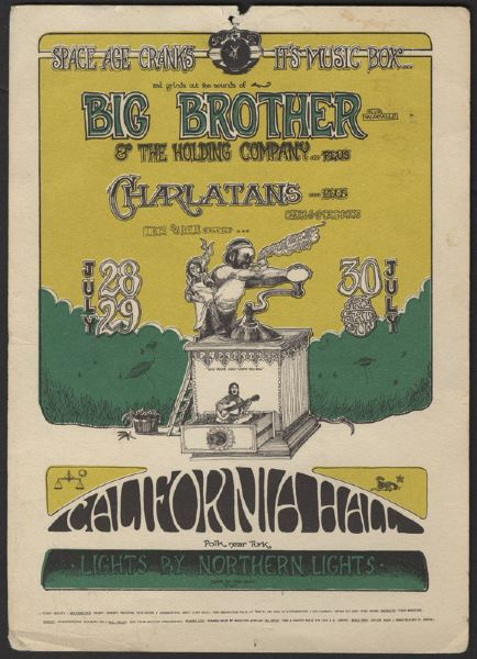 Big Brother & The Holding Company Original Concert Handbill
