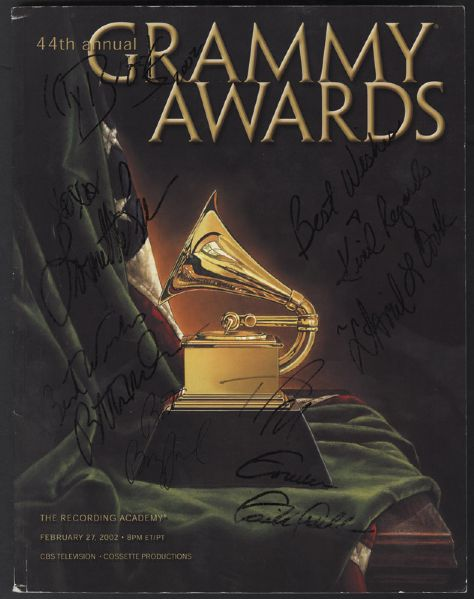 44th Annual Grammy Awards Signed Program