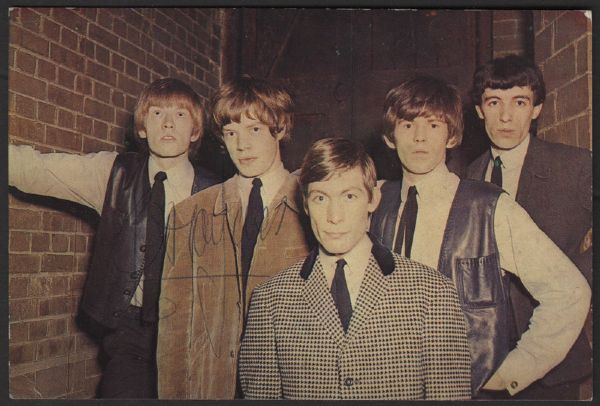Brian Jones Signed Rolling Stones British Postcard