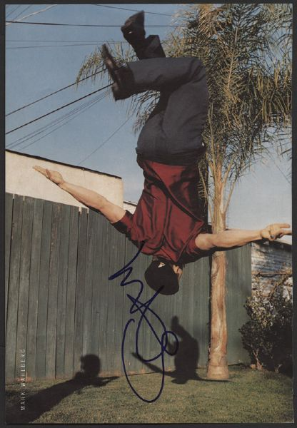 Mark Wahlberg Signed Magazine Picture