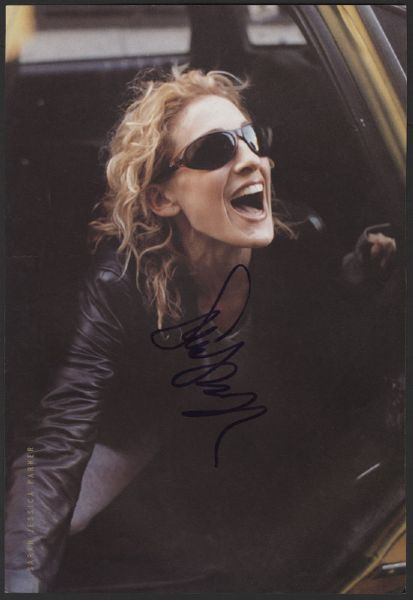 Sarah Jessica Parker Signed Magazine Picture