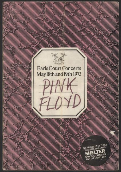 Pink Floyd 1973 Earl's Court Program