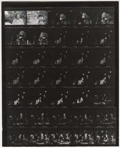 Jim Marshall Back Stamped Original Contact Sheet With Tiny Tim and Others