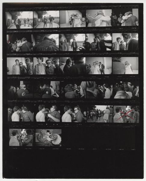 Buddy Guy Jim Marshall  Back Stamped Original Contact Sheet
