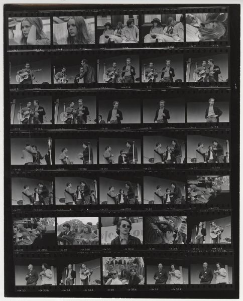Simon & Garfunkel Jim Marshall Back Stamped Original Contact Sheet