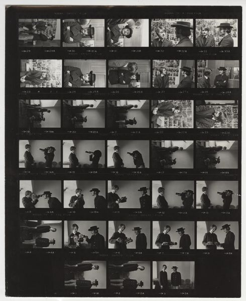 The Byrds Gene Trindl Back Stamped Original Contact Sheet