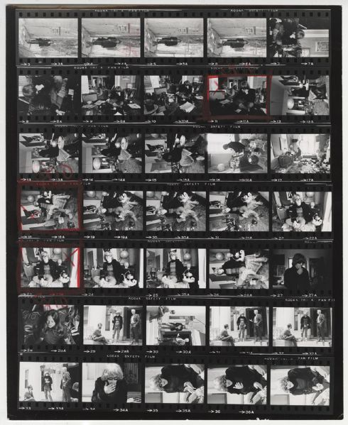 Jefferson Airplane Jim Marshall Back Stamped Original Contact Sheet