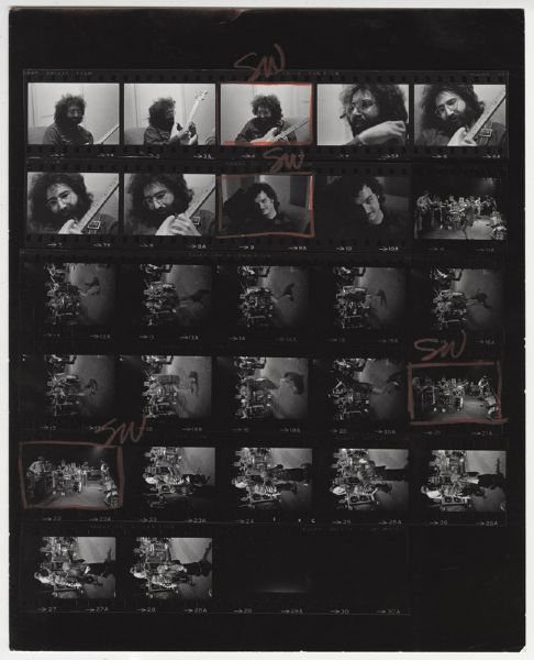 Grateful Dead Jim Marshall Back Stamped Original Contact Sheet