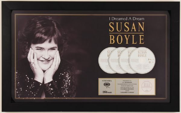 Susan Boyle RIAA Platinum Award for I Dreamed A Dream