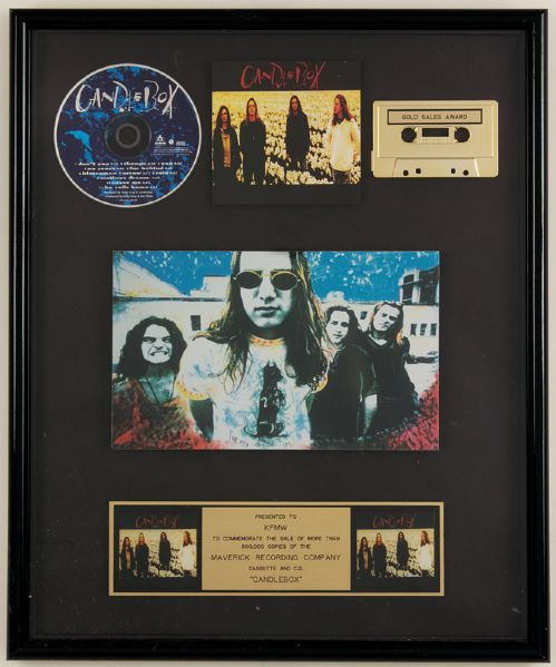 Candlebox Cassette and CD Gold Award