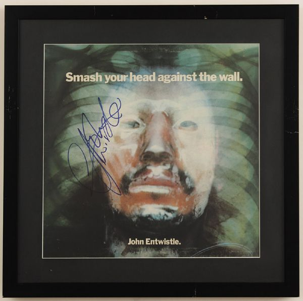 John Entwistle Signed Smash Your Head Against The Wall Album