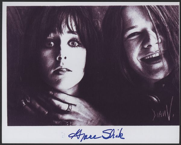 Grace Slick Signed Photograph With Janis Joplin