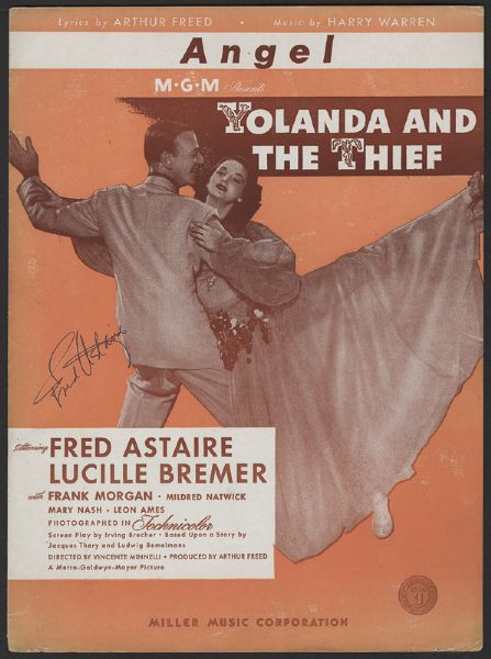 Fred Astaire Signed Sheet Music