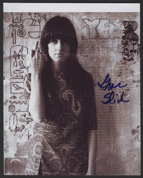 Grace Slick Signed Photograph