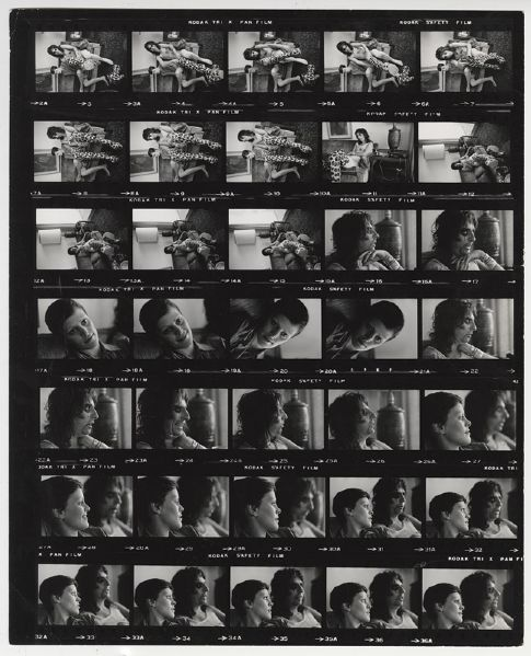 Alice Cooper Jim Marshall Stamped Original Contact Sheet