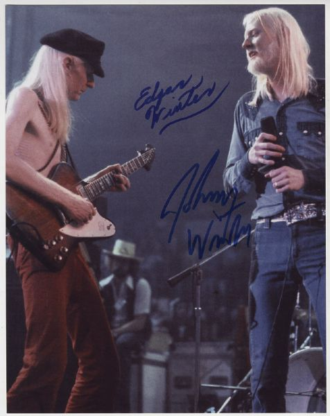 Johnny and Edgar Winter Signed Photograph
