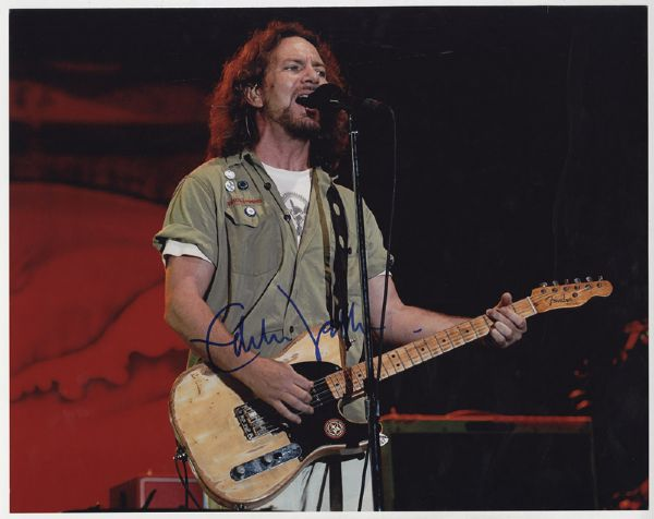 Eddie Vedder Signed Photograph