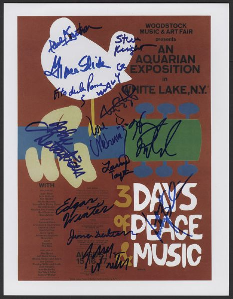 Woodstock 1969 Signed Dove Flat