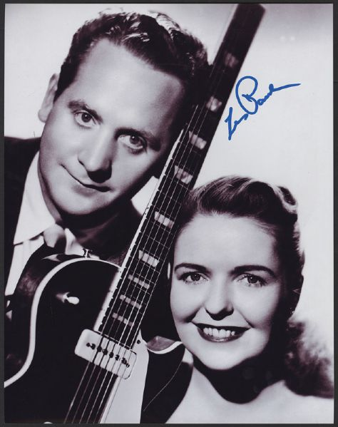 Les Paul Signed Photograph