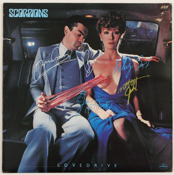 Scorpions Signed Love Drive Album