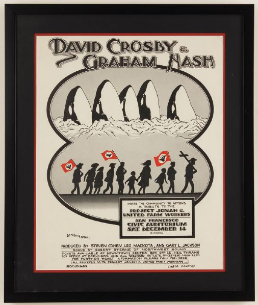 David Crosby and Graham Nash Original Poster