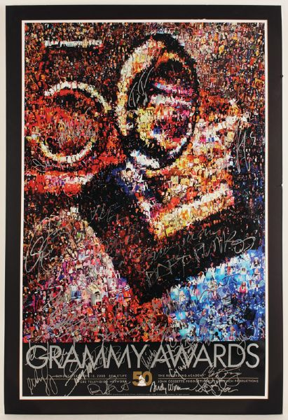 50th Annual Grammy Awards Signed Poster