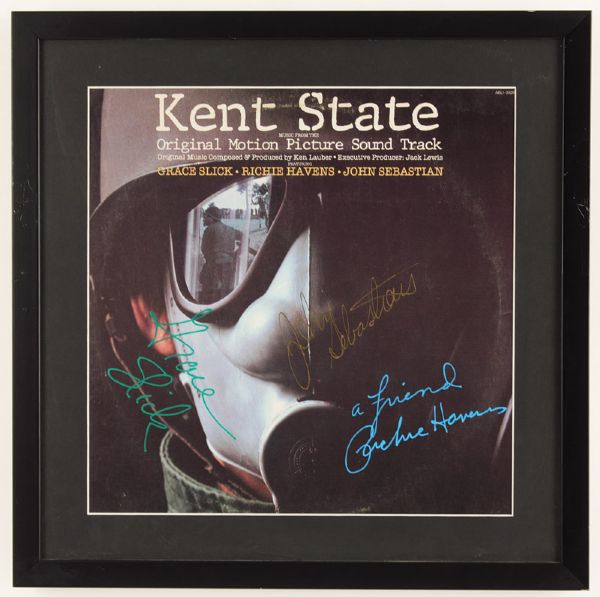 "Grace Slick, John Sebastian and Richie Havens Signed ""Kent State"" Sound Track"