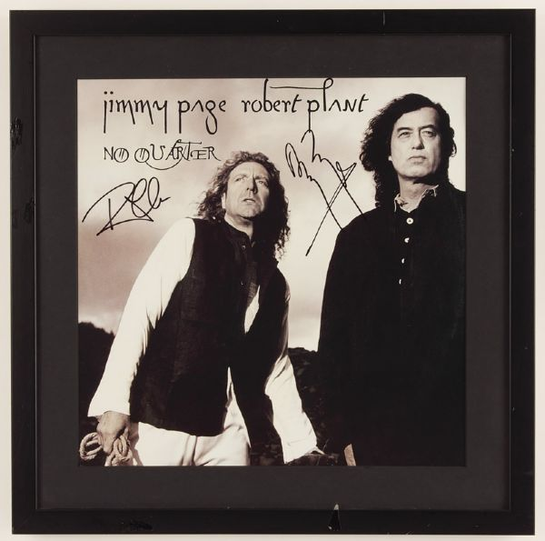 Jimmy Page & Robert Plant Signed No Quarter Album