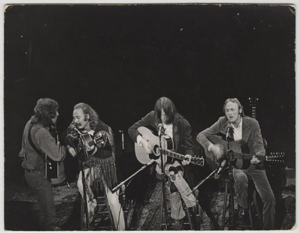 Crosby, Stills, Nash and Young Fillmore East 1970 Original Photograph