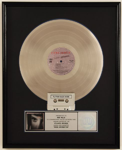 Foreigner Inside Information RIAA Certified Platinum Award
