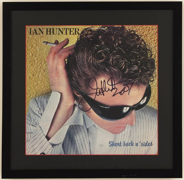 "Ian Hunter Signed ""Short Back N Sides"" Album"