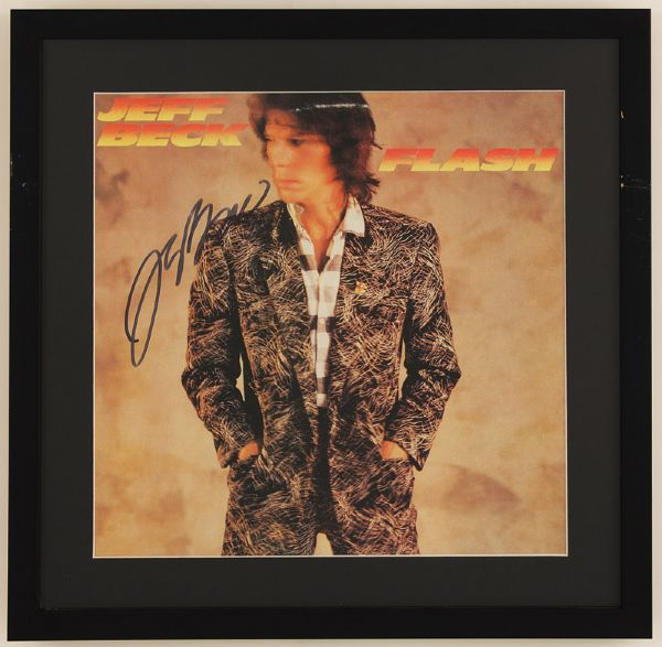 Jeff Beck Signed Flash Album
