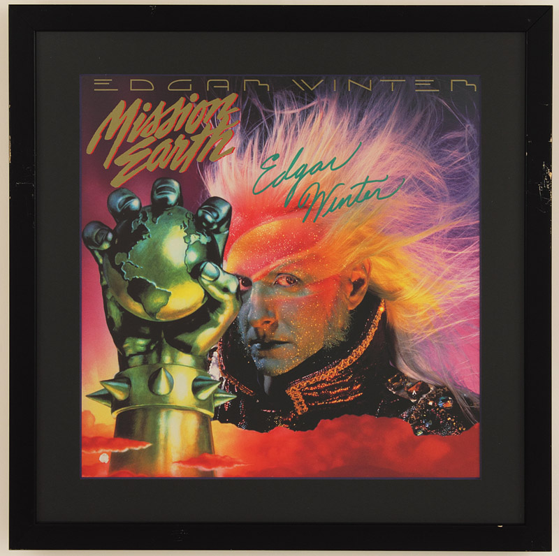 Mission Earth Edgar Winter Edgar Winter Signed Mission