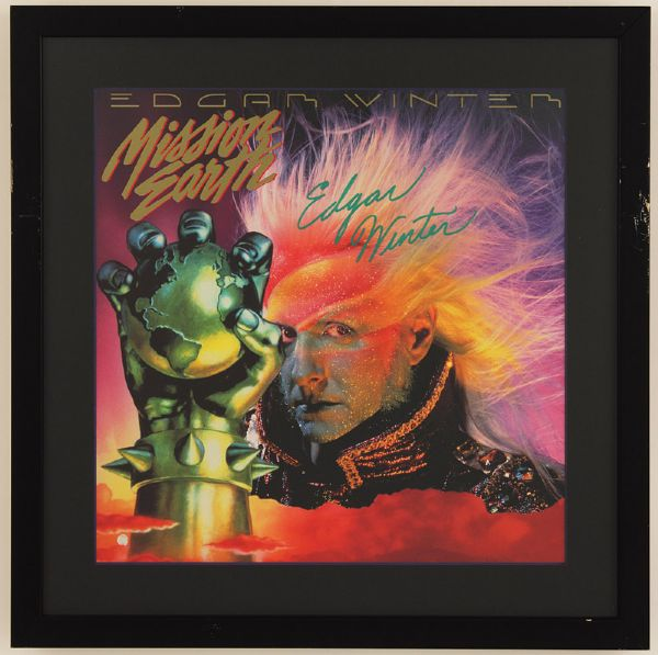 Edgar Winter Signed Mission Earth Album