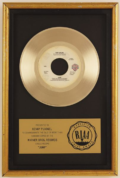 "Van Halen ""Jump"" RIAA Gold Single Record Award"