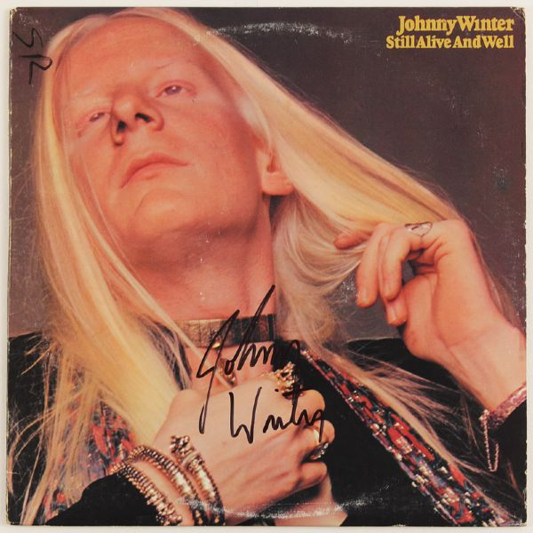 Johnny Winter Signed Still Alive and Well Album