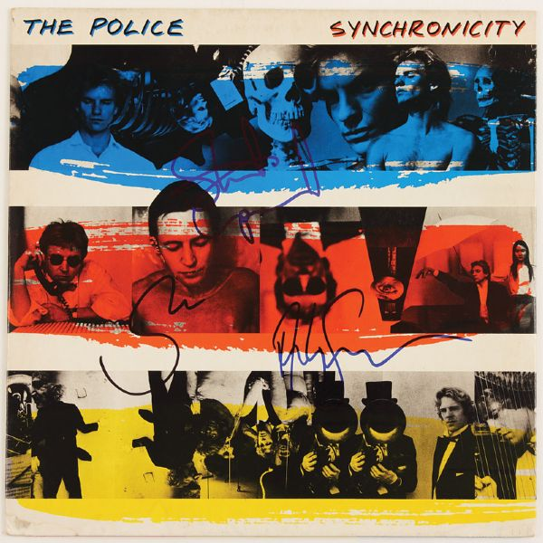 The Police Signed Synchronicity Album