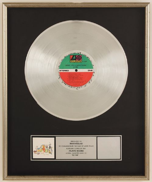 CSN&Y So Far RIAA Platinum Album Award