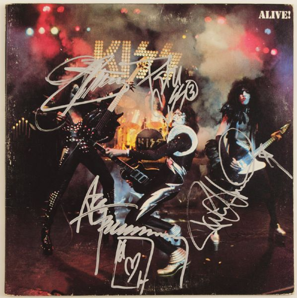 KISS Signed Alive! Album