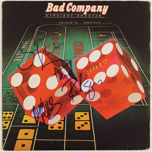 Bad Company Signed Straight Shooter Album