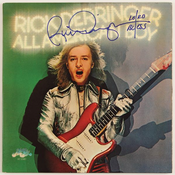 Rick Derringer Signed All American Boy Album