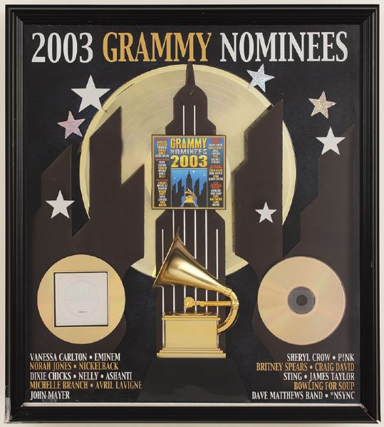Grammy Nominees 2003 Gold RIAA Award